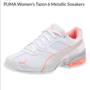 NWT Puma Tazon  6 woman's  metallic sneakers